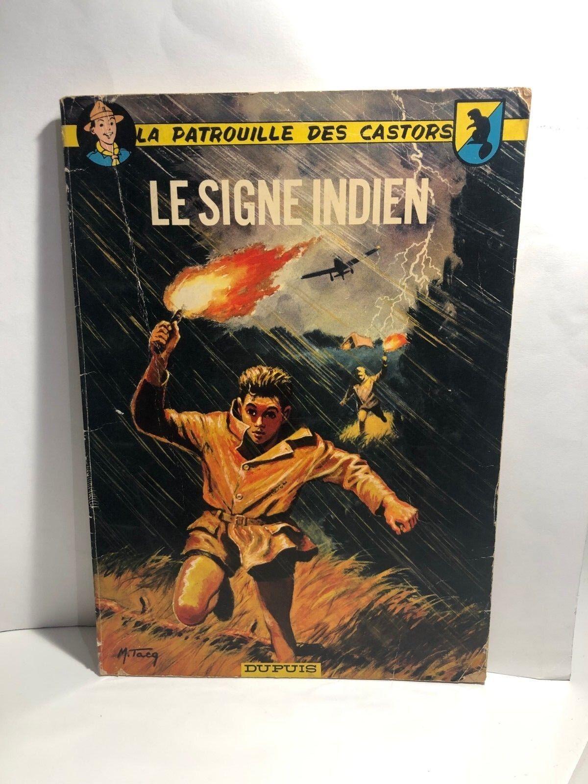 Bd La Patrouille des Castors - Le Signe Indien - Rééd.1966
