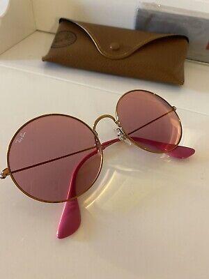 RAY-BAN JA-JO RB3592-9035C8 Sonnenbrille Pink Gold Rosa Rund Groß