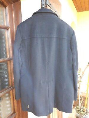 Armani jeans. manteau 3/4.60% laine. taille 54.bleu marine
