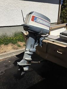 1977 25 hp Evinrude  long shaft outboard