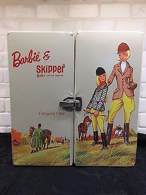 BARBIE & SKIPPER EQUESTRIAN CARRYING CASE TRUNK -  HTF VERY RARE