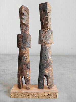 Set Of Figure Aklama Adan Adangbe People Ewe 16cm +17cm Art Tribale Primitive.**