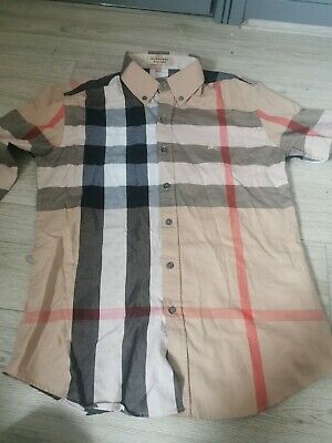 Burberry Mens Shirt SIZE- M Medium Nova Check long sleeve