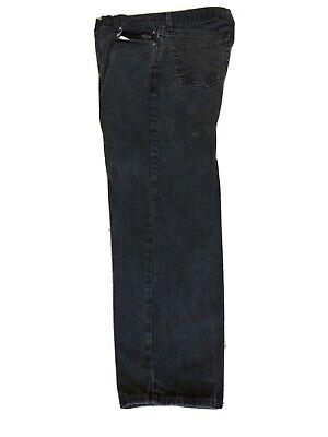 Harley-Davidson Straight Leg Jeans 99003-17VM Black Mens 36x30 Canvas Cargo Pant