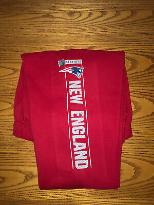 NEW ENGLAND PATRIOTS NFL TEAM APPAREL MENS RED GYM SWEAT PANTS 2XL