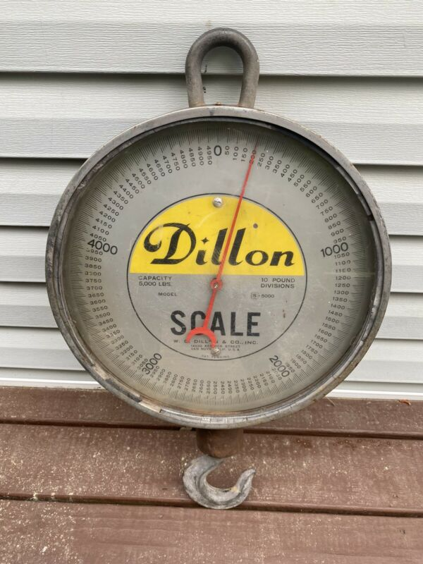 Vintage Dillon 5000-lbs Crane Scale Van Nuys California