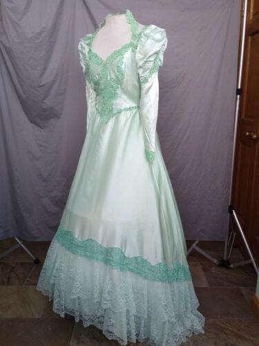 Civil War Dress Victorian Costume Edwardian Reenactment Gown Pale Green