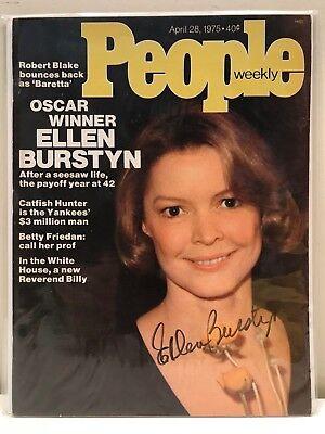 signed Ellen Burstyn People Weekly 1975 Oscar winning actress The Exorcist