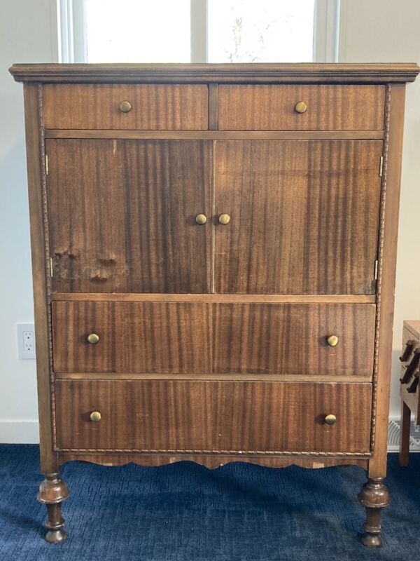 Vintage Clothes Chest/armiore Dresser Wood-michigan Local Pick Up Only