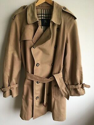 BURBERRY LONDON MENS XL LARGE 42-44 DOUBLE BREASTED TRENCH COAT RAINCOAT JACKET