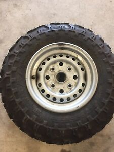 Honda 300 front rim and tire
