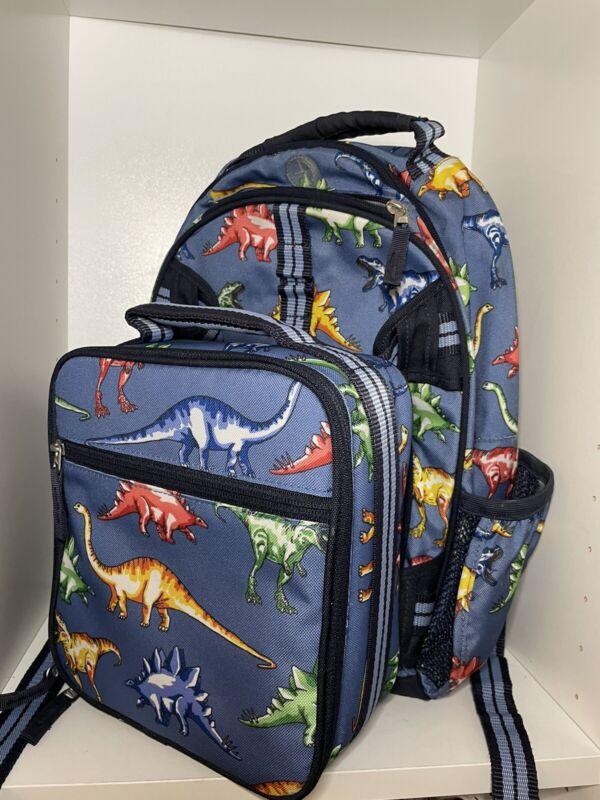 Pottery Barn Kids Boys Dinosaur Backpack and Lunchbox Set - NICE