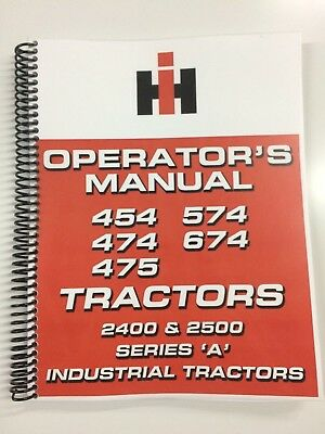 International Harvester 2500 Series A Industrial Tractor Operators Manual