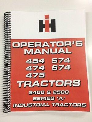 International Harvester 2400 Series A Industrial Tractor Operators Manual