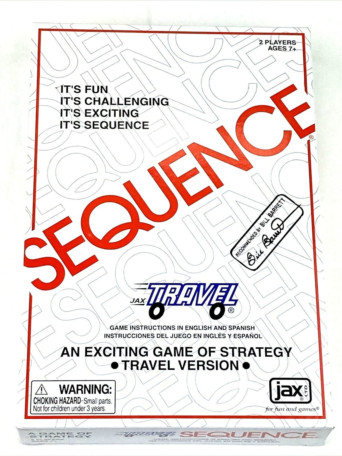 NEW Sequence Strategy Travel Game With Case Kids Adults Fun Travel Game NIB