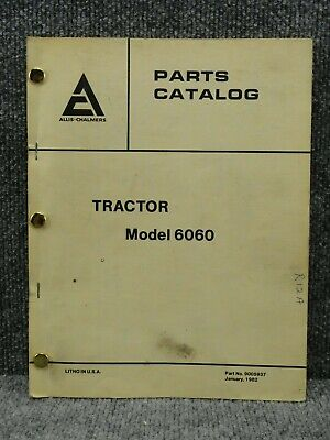 Oem Allis Chalmers 6060 Tractor Parts Catalog Manual Book 9005937