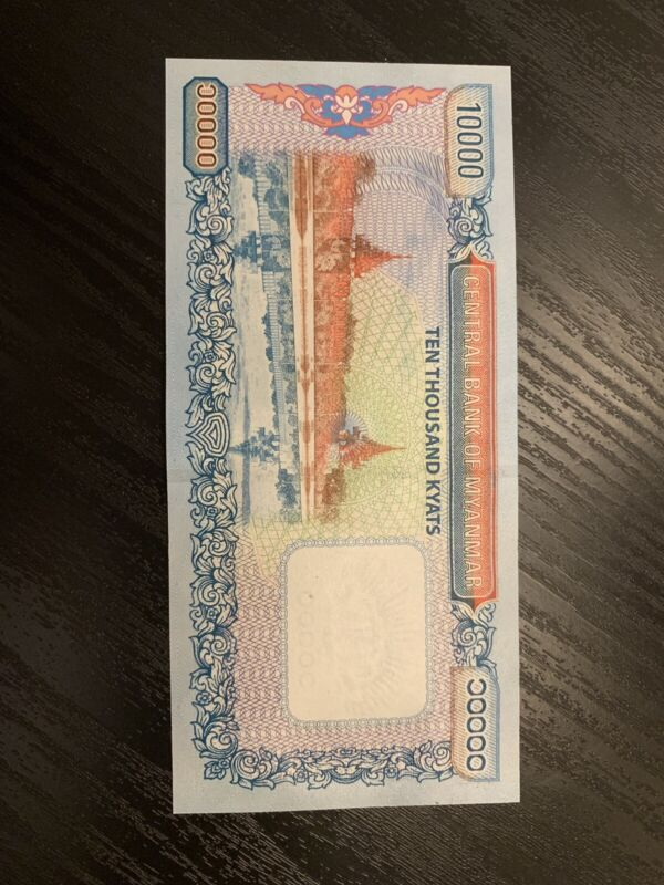 MYANMAR 10000 10,000 KYAT NEW Uncirculated  BURMA MONEY BILL BANK NOTE.