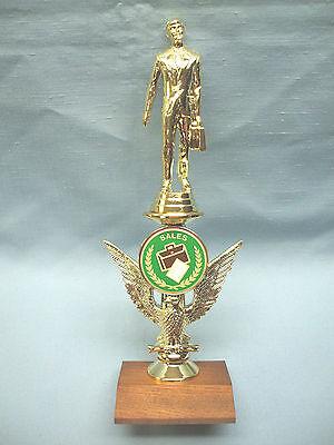 Salesman Trophy Color Riser Solid Wood Base