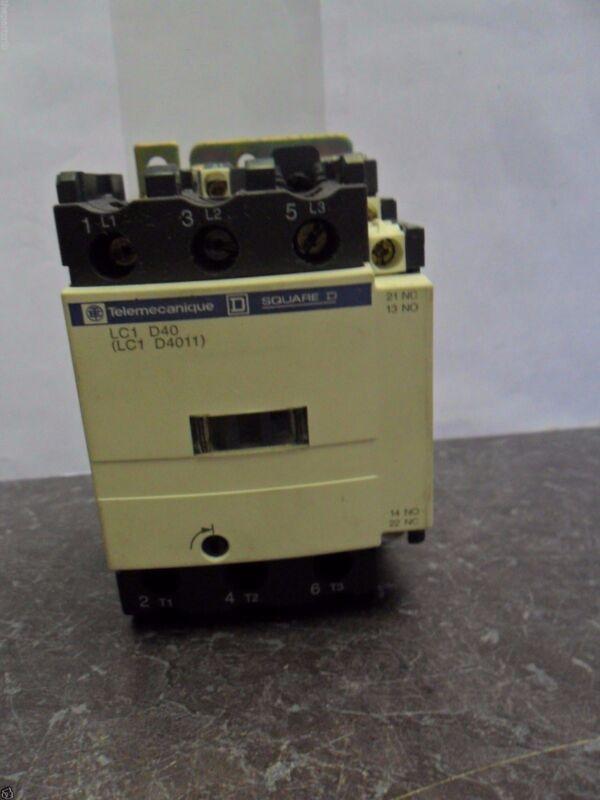 Nice Square D Telemecanique LC1 D4011B6 contactor 24 Volts 60 Hz