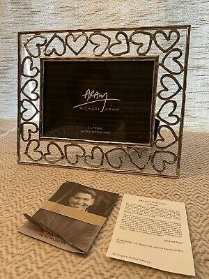 Michael Aram Heart Photo Frame 5x7 - 132341 Multi New In Box