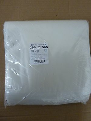 VACUUM PACKER  - textured pouches and rolls-50 pouches 250mm x 500mm