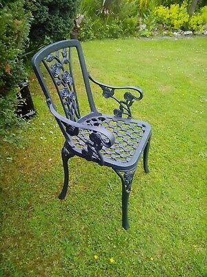 Cast Iron & Aluminium Garden Carver Chair rose design