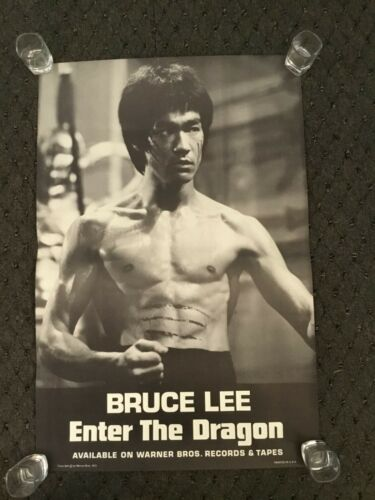 VINTAGE 1973 BRUCE LEE ENTER THE DRAGON SOUNDTRACK PROMO POSTER