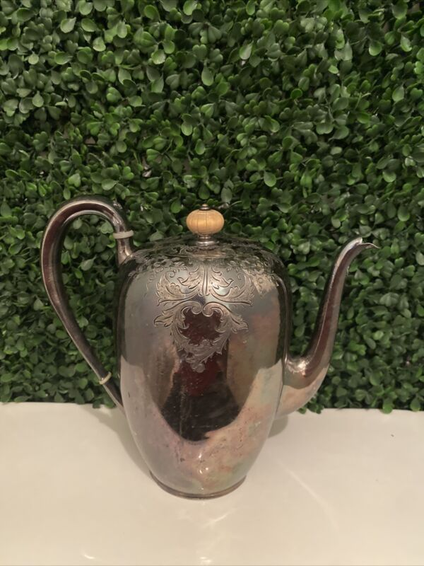 Vintage Wilcox Silverplate Co. 1952 Pitcher 7 With Lid with etching