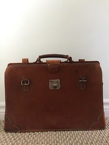 Vintage Argentine Leather briefcase