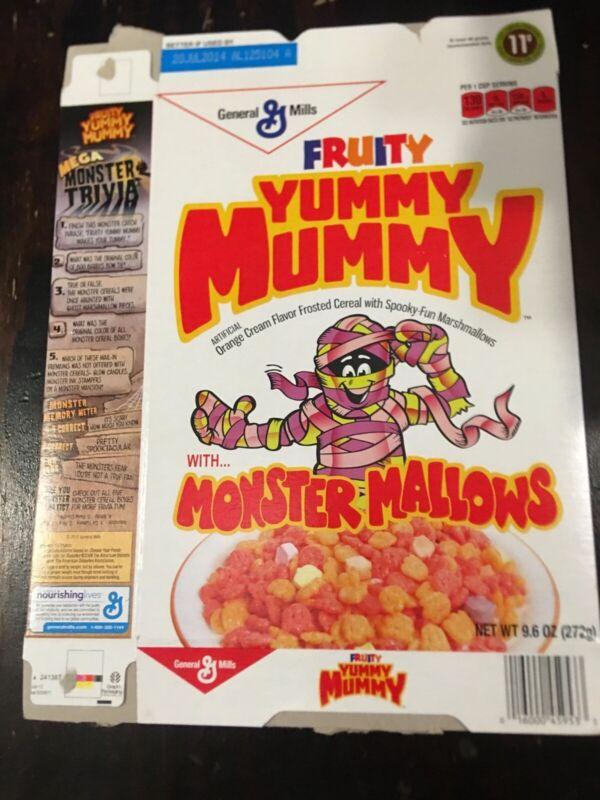 Yummy Mummy monster cereal box flat - 2013- target - retro