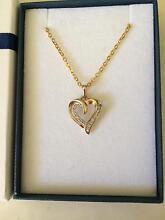 9ct gold heart pendant with diamonds Marangaroo Wanneroo Area Preview