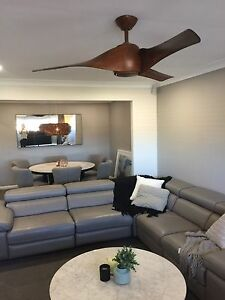 Timber fan and timber pendant light Glenmore Park Penrith Area Preview