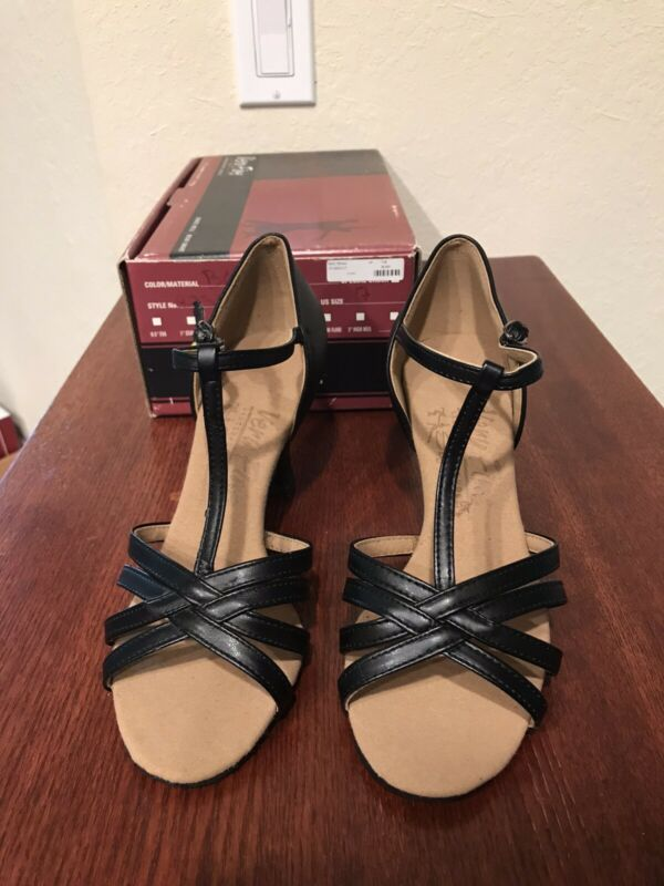 Very Fine Womens Ballroom Shoe Style 9235 Black Size 7