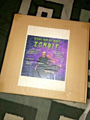 Tekky Toys Animated Rising From The Grave ZOMBIE. Halloween prop. BRAND NEW.