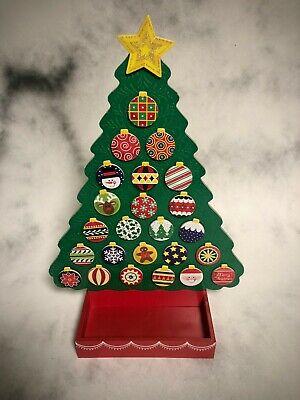 Melissa & Doug Wooden Countdown Advent Calendar w/magnetic Christmas Ornaments