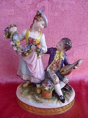 sehr schöne,alte Porzellanfigurengruppe__Liebespaar__17cm__gemarkt_!