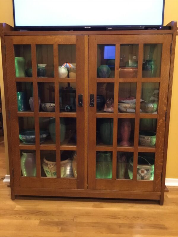 Mission Arts And Crafts | Stickley Style | Double Bookcase