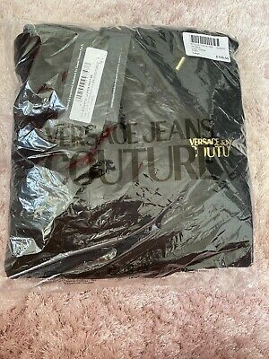 MENS VERSACE JEANS COUTURE LOGO HOODIE LARGE