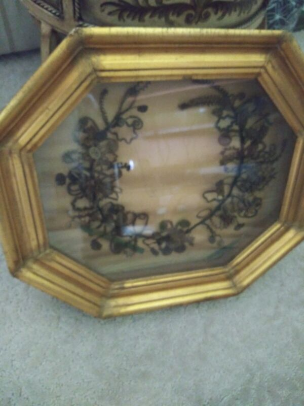 Victorian Mourning Wreath, 17 X 15