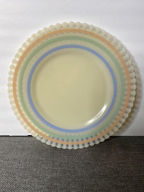 MacBeth-Evans Petalware Cremax Banded Pastel 8 Inch Salad Plate Depression Era