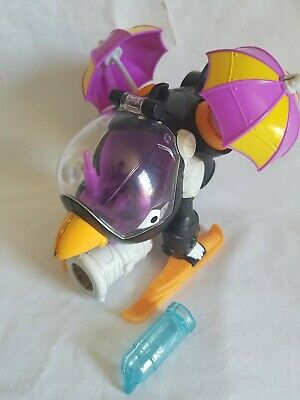 Imaginext DC Super Friends The PENGUIN COPTER Helicopter w 2 umbrellas & missile