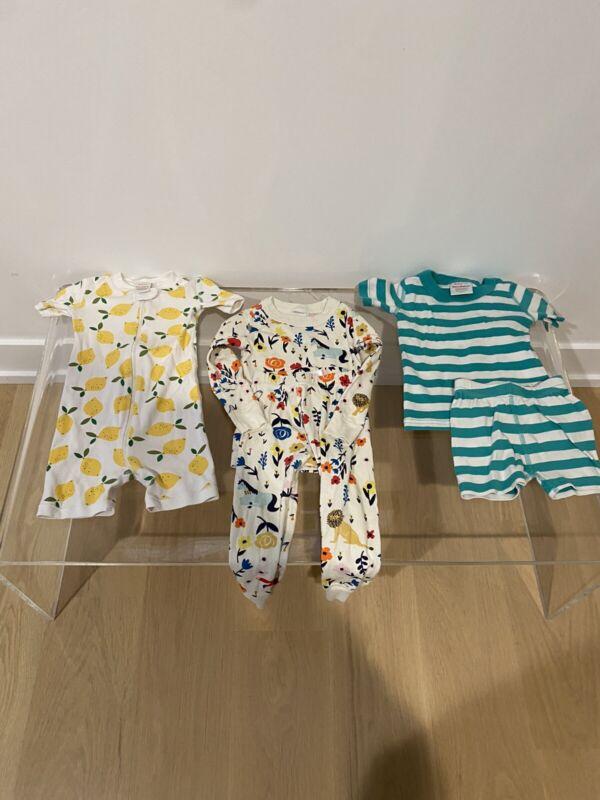 3 Pairs Hanna Anderson Pajamas Sz2