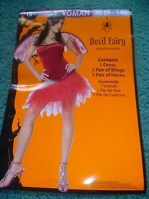 NEW ADULT RED DEVIL FAIRY HALLOWEEN COSTUME SIZE 8 - 10 or 4 - 6
