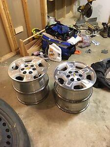 Set of Chevy rims