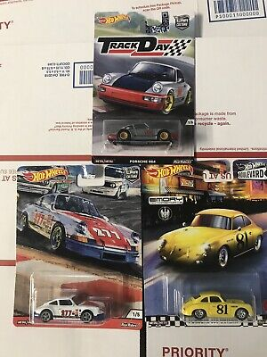LOT OF 3 HOT WHEELS PREMIUM PORSCHE CARS 911 964 & 356 OUTLAW FREE SHIP