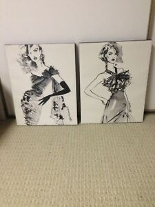 Black and white canvas
