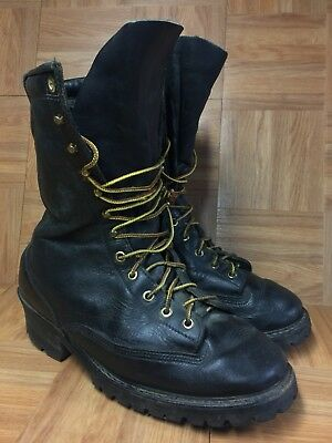 RARE🔥 Hathorn Explorer Firefighter Protective Boots 11.5 Black Leather Lug LE