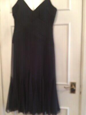 Black J S Boutique Strappy Dress Size 10 Vgc