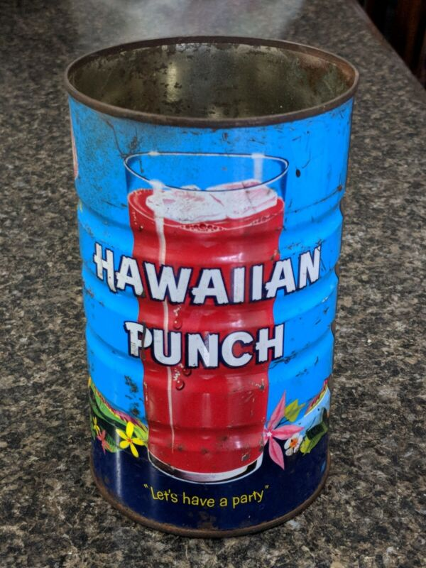 Hawaiian Punch Steel Can - Vintage 1-QT Pre-Bar Code Dated 1961