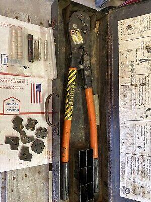 Thomas Betts Co Tbm-8 Wire Lug Crimper Hand Tool W 8 Dies In Box 8183